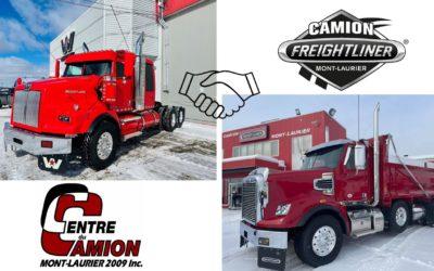 Centre du Camion Mont-Laurier fait l'acquisition de Freightliner Mont-Laurier